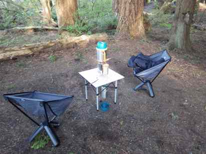 Getting Dinner Ready at Birch Bay Campground