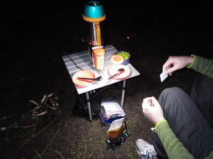 Dinner in a Bag: Camp Dinner at Sequim State Park