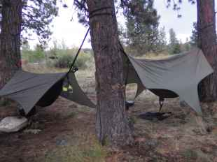Free camping at La Grande's Morgan Lake municiple campsite.