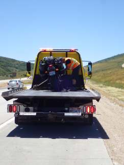 Blackie breaks down outside of Heber, UT.