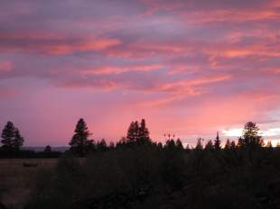 Sunset over Morgan Lake.