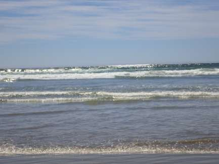 A picture of the surf from the surf
