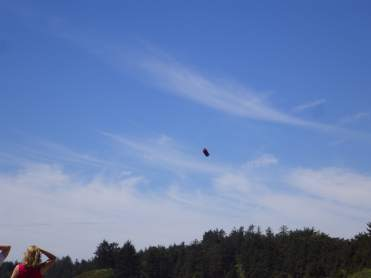 A Canadian Armed Forces parachuter. They dropped in while we were at Long Beach