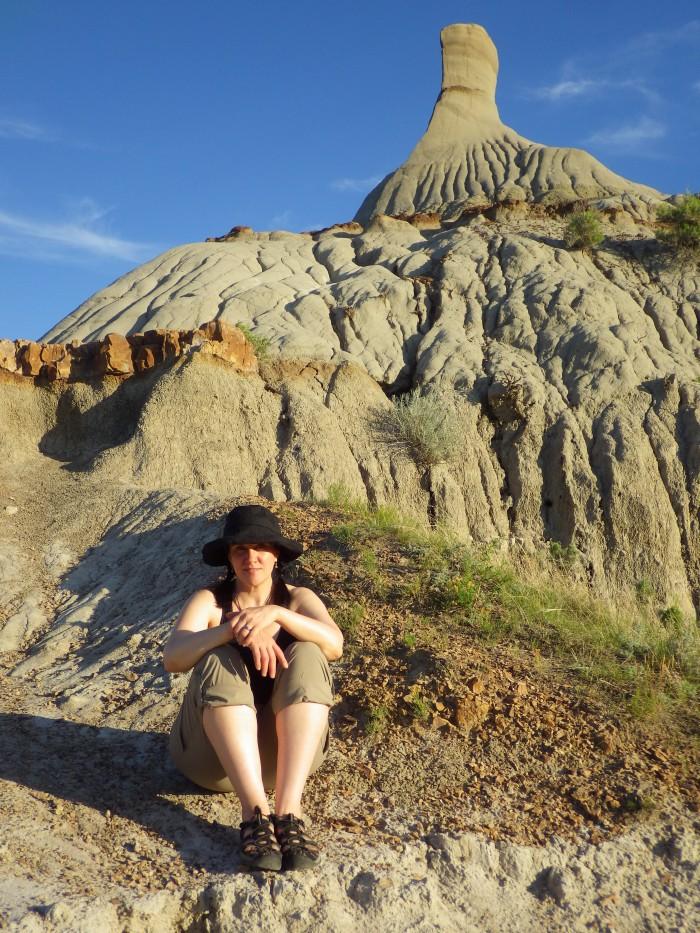 NMBL in the badlands of Dinosaur Provincial Park