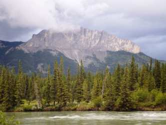 The Bow River and the Rockies