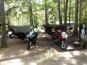 Our camp at Toad Rock
