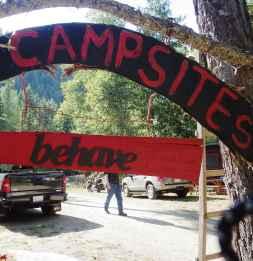 Campsite rules
