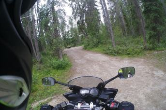 Riding in to Waitabit Creek